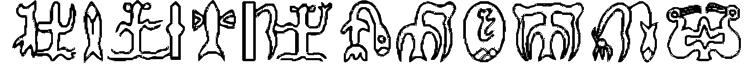 RongoRongo Glyphs Font