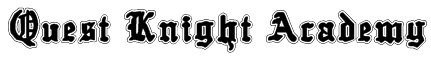 Quest Knight Academy Font