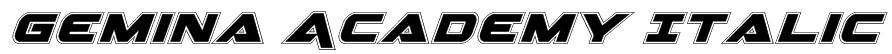 Gemina Academy Italic Font