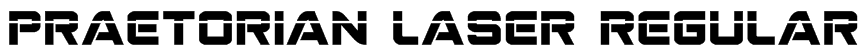 Praetorian Laser Regular Font