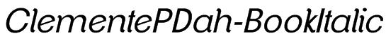 ClementePDah-BookItalic Font