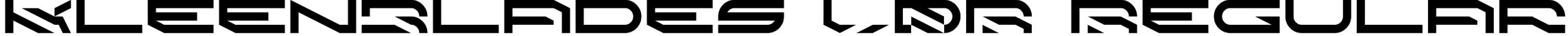 KleenBlades LDR Regular Font