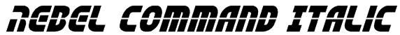 Rebel Command Italic Font