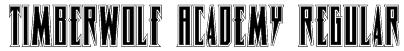 Timberwolf Academy Regular Font