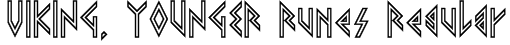VIKING, YOUNGER Runes Regular Font