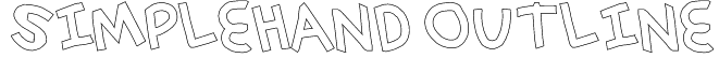 simplehand outline Font