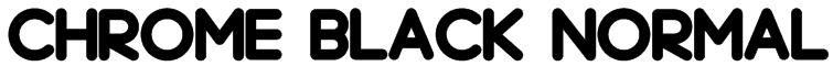 Chrome Black Normal Font