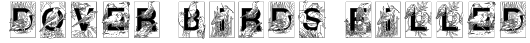 Dover Birds Filled Font