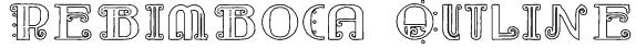 Rebimboca Outline Font