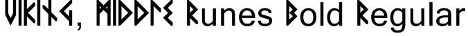 VIKING, MIDDLE Runes Bold Regular Font