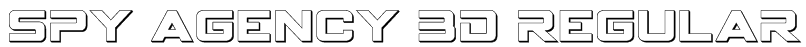 Spy Agency 3D Regular Font