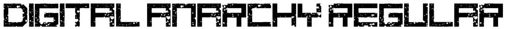 digital anarchy Regular Font