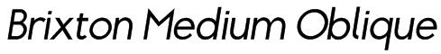 Brixton Medium Oblique Font