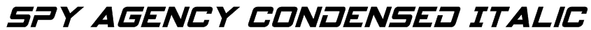 Spy Agency Condensed Italic Font