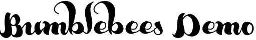 Bumblebees Demo Font