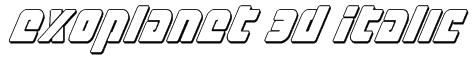 Exoplanet 3D Italic Font