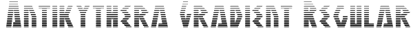 Antikythera Gradient Regular Font
