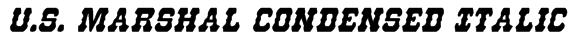 U.S. Marshal Condensed Italic Font