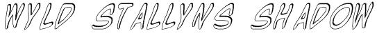 Wyld Stallyns Shadow Font