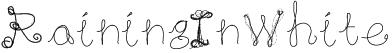 RainingInWhite Font