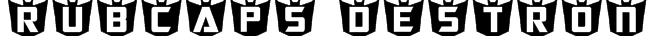 RubCaps Destron Font
