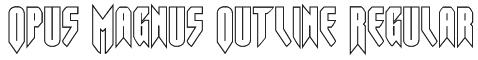Opus Magnus Outline Regular Font