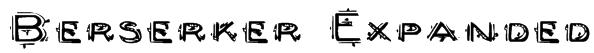 Berserker Expanded Font