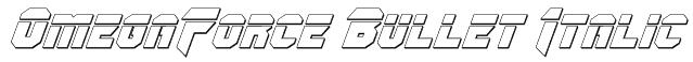 OmegaForce Bullet Italic Font