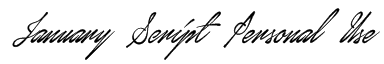 January Script Personal Use Font