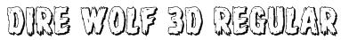 Dire Wolf 3D Regular Font