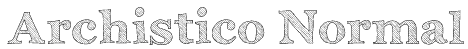 Archistico Normal Font