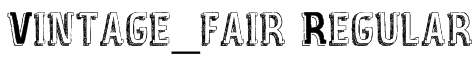 Vintage_fair Regular Font
