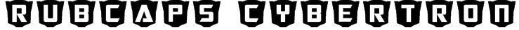 RubCaps Cybertron Font
