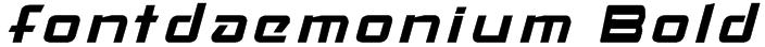 fontdaemonium Bold Font