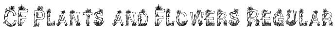 CF Plants and Flowers Regular Font
