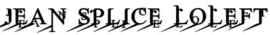 Jean Splice LoLeft Font