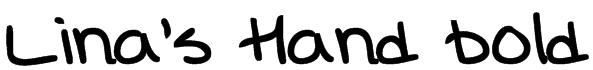 Lina's Hand bold Font