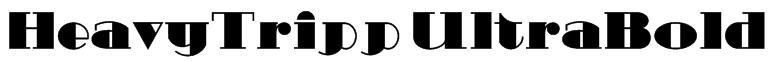 HeavyTripp UltraBold Font