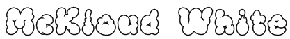 McKloud White Font