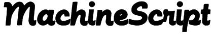 MachineScript Font