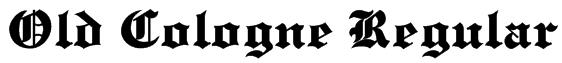 Old Cologne Regular Font