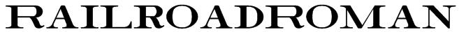 RailroadRoman Font