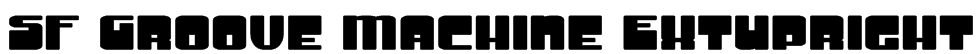 SF Groove Machine ExtUpright Font