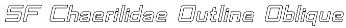SF Chaerilidae Outline Oblique Font