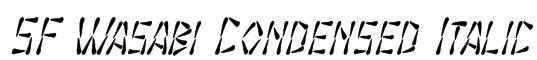 SF Wasabi Condensed Italic Font