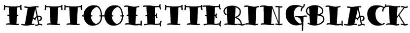 TattooLetteringBlack Font