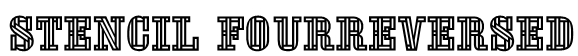 Stencil FourReversed Font