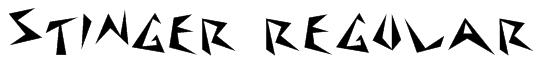 Stinger Regular Font
