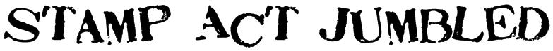 Stamp Act Jumbled Font