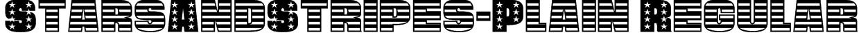 StarsAndStripes-Plain Regular Font